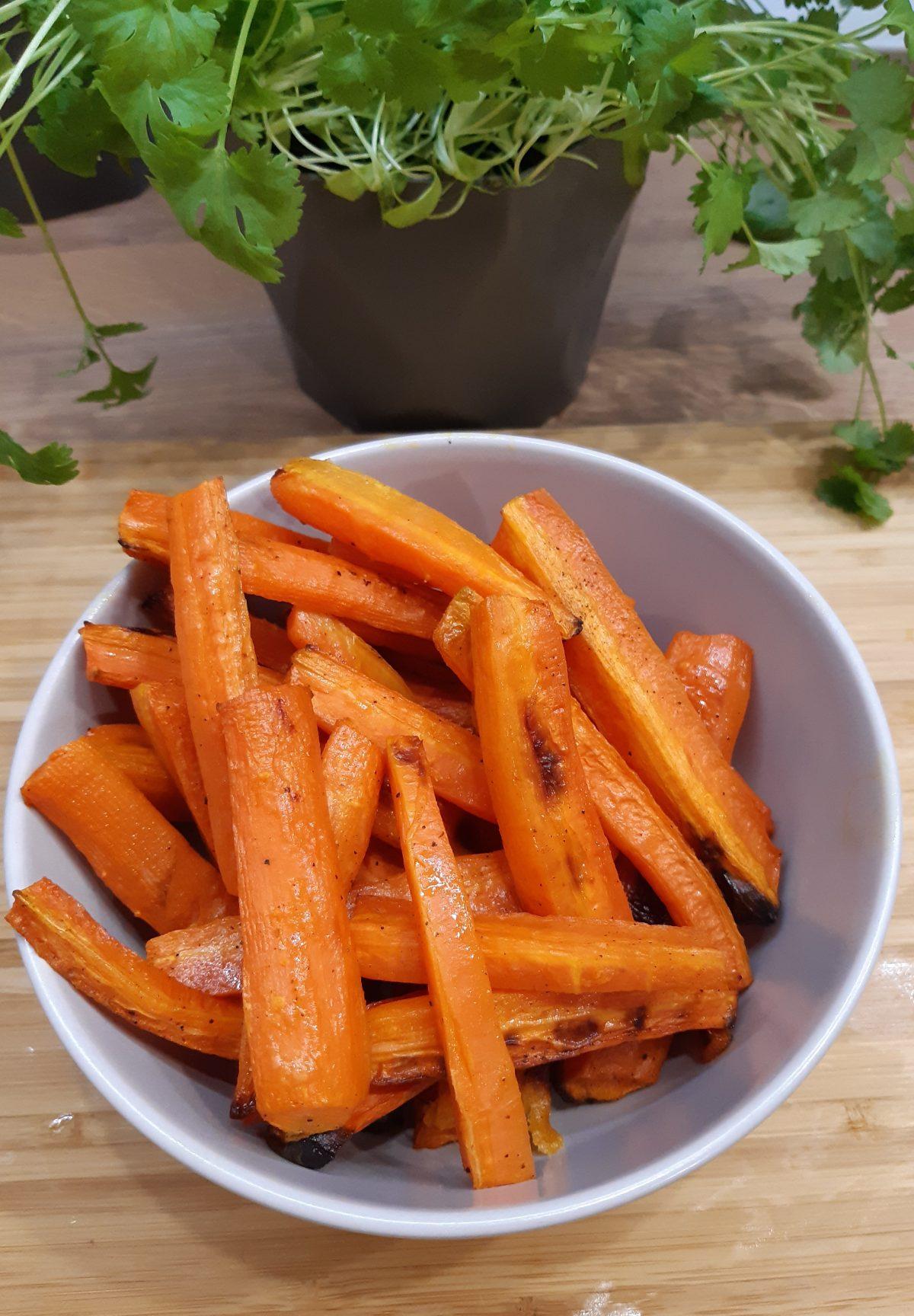 Szybkie frytki z marchewki