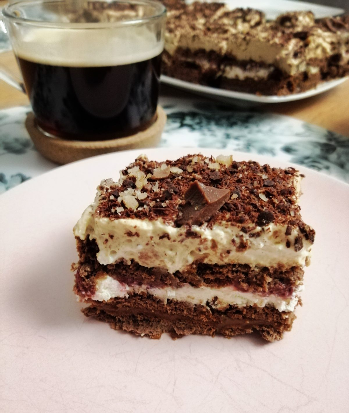 Krówkowe ciasto bez pieczenia
